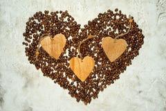 Coeur de café Photo libre de droits