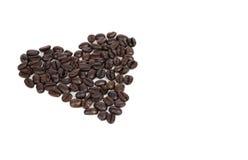 coeur de café d'haricot Photographie stock libre de droits