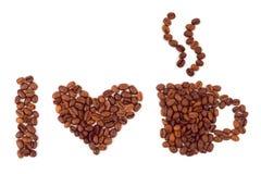 coeur de café effectué Photos libres de droits