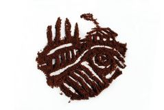 Coeur de café en italien le style du Toscan Image libre de droits