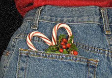 Coeur de canne de sucrerie Image stock