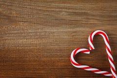 Coeur de cannes de sucrerie Images libres de droits
