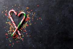 Coeur de cannes de sucrerie Photo libre de droits