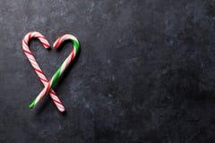 Coeur de cannes de sucrerie Images stock