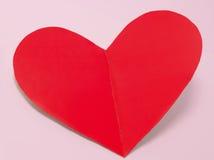 Coeur de carte de vacances du jour de valentines de papier Images stock