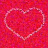 Coeur de cercles Photo libre de droits