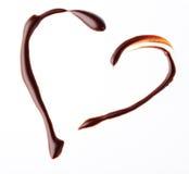 Coeur de chocolat Images libres de droits