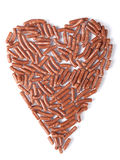 Coeur de chocolat Photographie stock libre de droits