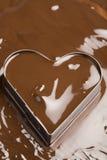 Coeur de chocolat Photos stock