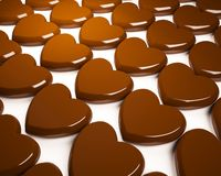 Coeur de chocolat illustration stock