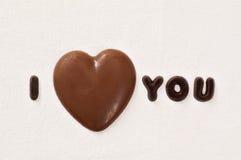 Coeur de chocolat Images stock