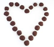 coeur de chocolat image stock