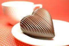 Coeur de chocolat au lait Images stock