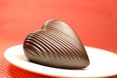 Coeur de chocolat au lait Images libres de droits