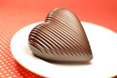 Coeur de chocolat au lait Photos stock