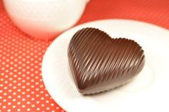 Coeur de chocolat au lait Photo stock