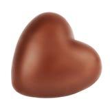 Coeur de chocolat d'isolement sur le fond blanc Image libre de droits