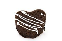 Coeur de chocolat de gâteau de sucrerie Photos stock
