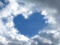 Coeur de ciel Image libre de droits