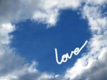 Coeur de ciel Photo libre de droits
