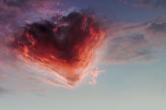 Coeur de ciel jpg Image stock