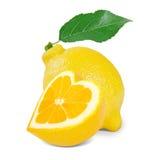 Coeur de citron Photos stock