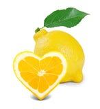 Coeur de citron Photo libre de droits