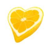 Coeur de citron Photos libres de droits