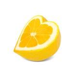 Coeur de citron Image libre de droits