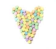 Coeur de coeurs de sucrerie Images libres de droits
