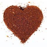 Coeur de Coffe Image libre de droits