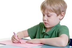 coeur de coloration d'enfant photographie stock libre de droits