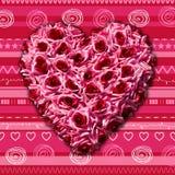 Coeur de concept de Saint-Valentin de roses Image libre de droits