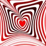 Coeur de conception tordant le fond d'illusion de mouvement Images libres de droits