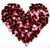 Coeur de confettis Photos stock