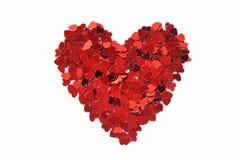 Coeur de confettis Images stock