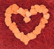 Coeur de confettis Image libre de droits