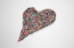 Coeur de confettis Images libres de droits