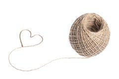 Coeur de corde Images stock