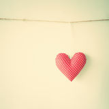 Coeur de coton Photographie stock libre de droits