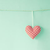 Coeur de coton Images libres de droits