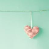 Coeur de coton Image stock