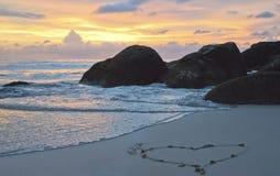 Coeur de coucher du soleil Photo libre de droits