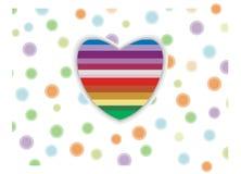Coeur de couleur Photo libre de droits