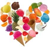 Coeur de crème glacée  Photographie stock