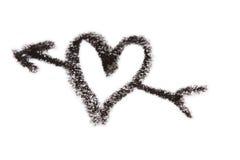 Coeur de crayon avec la flèche Images libres de droits