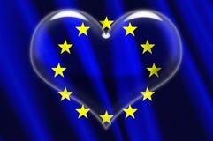 Coeur de cristal d'Union européenne Image stock