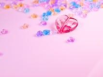 Coeur de Cystal Photos libres de droits