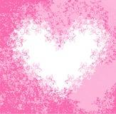 Coeur de dentelle sur le fond rose modifié. Vecteur illustration stock
