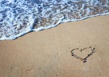Coeur de dessin Image libre de droits